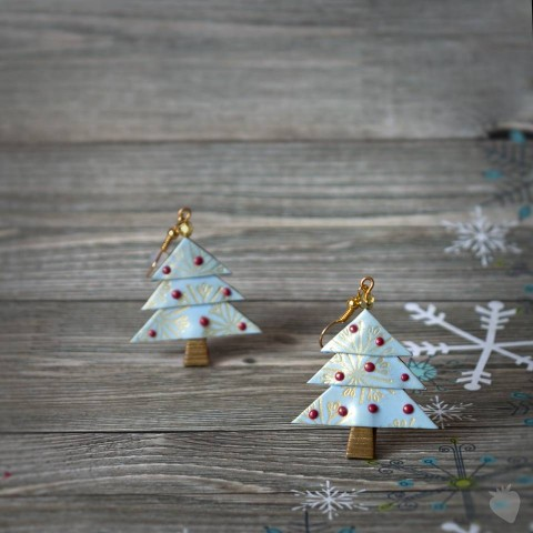 Vánoční stromečky - Frutoriál - Polymerový návod od Fruitensse