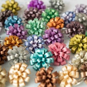 Karafiáty - květinové náušnice z fima od Fruitensse