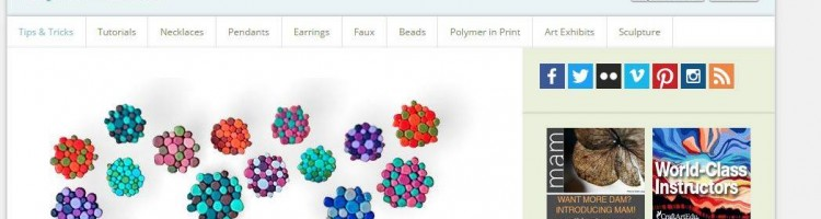 Polymer clay daily - Barevné molekuly náušnice