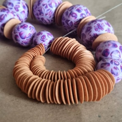 Big violet beads and lot of tiny little things, but still not enough