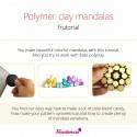 Polymer clay mandalas - frutorial